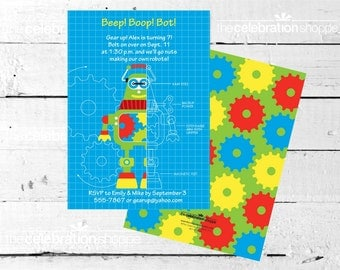 ROBOT Birthday Party INVITATION from The Celebration Shoppe