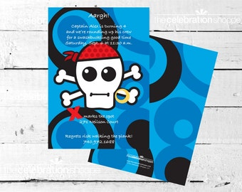 PIRATE SKULL Birthday Party INVITATION from The Celebration Shoppe