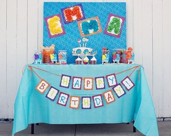 ART Birthday PRINTABLE PARTY Collection from The Celebration Shoppe
