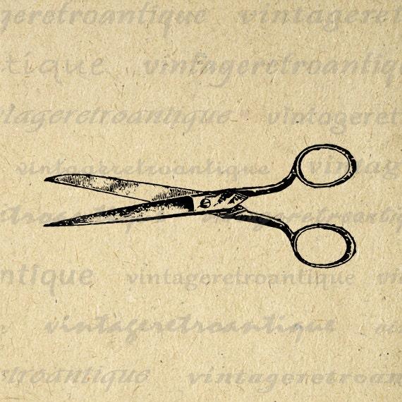 Antique Shears Image Digital Download by VintageRetroAntique