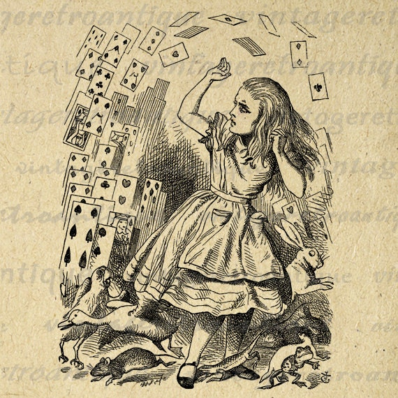 Digital Image Alice and the Playing Cards Graphic Alice in ...