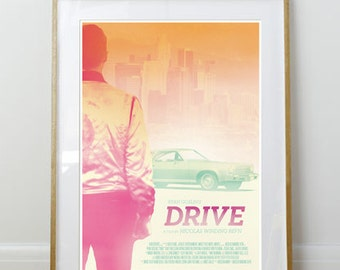 Drive Poster // Ryan Gosling // Movie Print // Home Decor // 11 x 17 // A3 // RIBBA 290 x 390mm