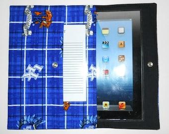 iPad, iPad2, iPad3 Case / Cover / Sleeve padded (READY TO SHIP) - Kentucky Wildcats
