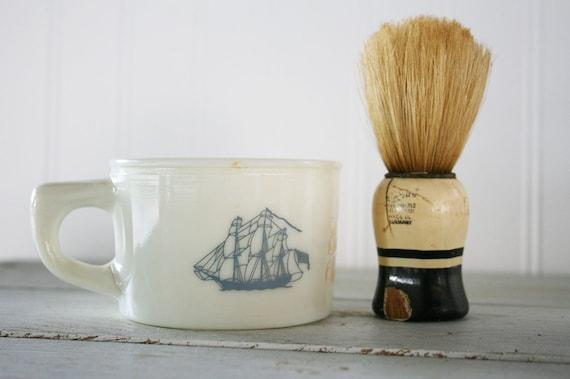 Vintage Old Spice Ship Grand Turk Salem 1786 shaving mug / cup
