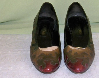 Vintage Joan and David Couture - Made In Italy - Size 8AA - 2 1/4'' Heel