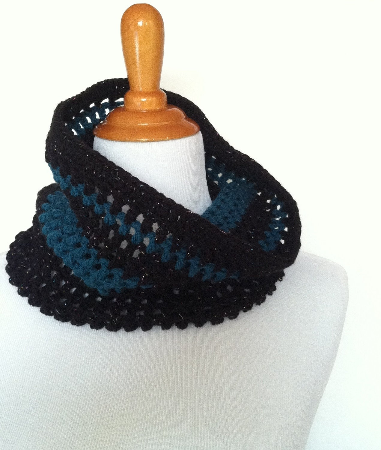 Crochet Cowl Circle Scarf Neck Warmer Mesh Stitch by ByDDHines Cowl Neck Scarves Crochet