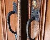 Custom Order 2 Wooden Door Iron Handle Photograph