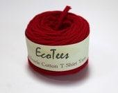 Red T Shirt Yarn - 35 yards - Handmade Yarn