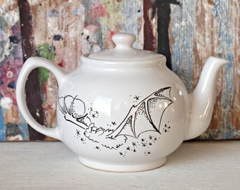Little Bat themed Alice in Wonderland Tea Pot