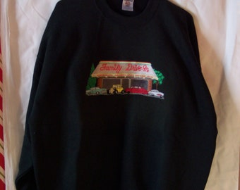 Family Drive-In Embroidered Sweat Shirt