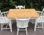 shabby chic pine table 4 chairs