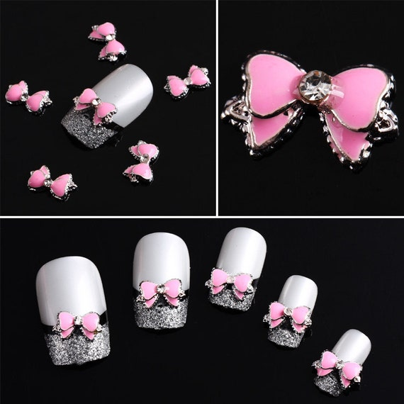Items Similar To 50pcs 3D Alloy Acrylic Bow Tie Nail Art
