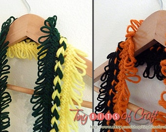 Custom design two-colored sports scarf. Football teams, Basketball Scarf, MBA.  Custom Team Colors. Unisex sports scarf