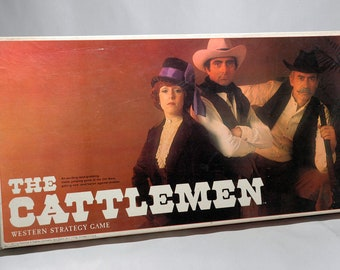 The Cattlemen Strategy Board Game from Selchow & Righter 1977 COMPLETE (read description)