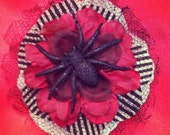 Rockabilly Spider Flower Hair Accessory