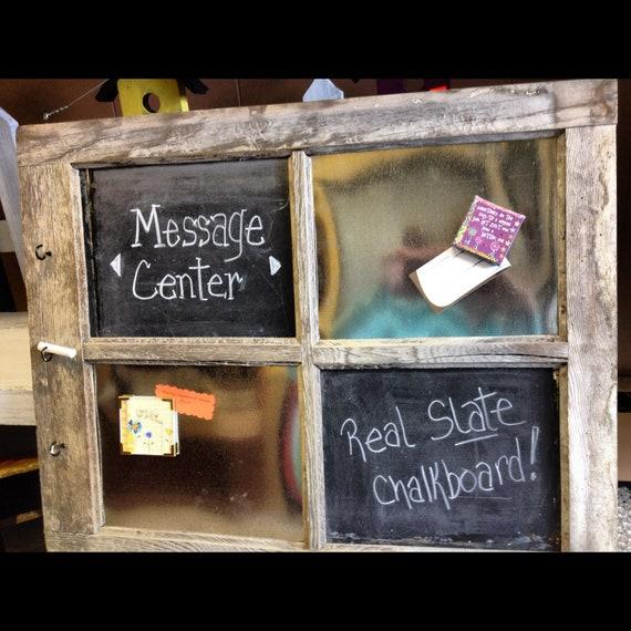 vintage window chalk/ magnet board