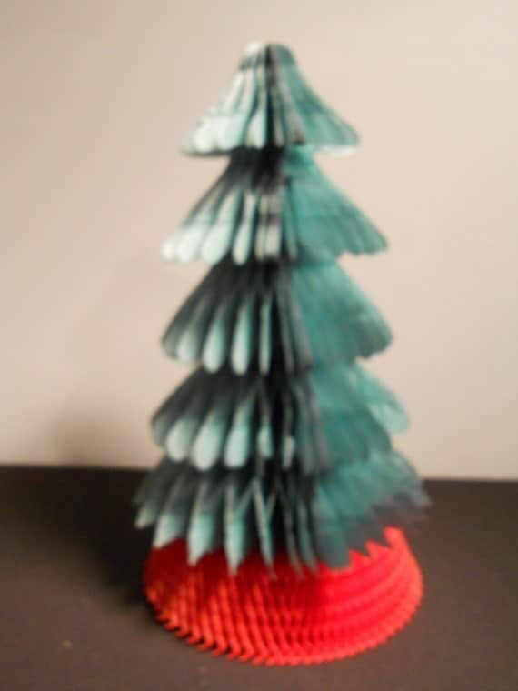 accordion paper christmas tree items similar to vintage crepe paper folding accordion 3311