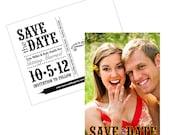 Save the Date Wedding Post Card, 4 x 6, DIY