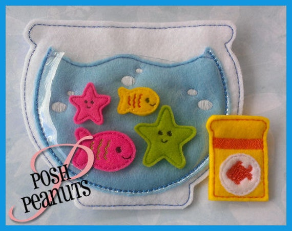 Items similar to fish bowl fun embroidery design on etsy for Book with fish bowl on cover