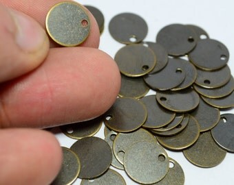 150 Pieces Antique Bronze 10 mm Blanks Stamping
