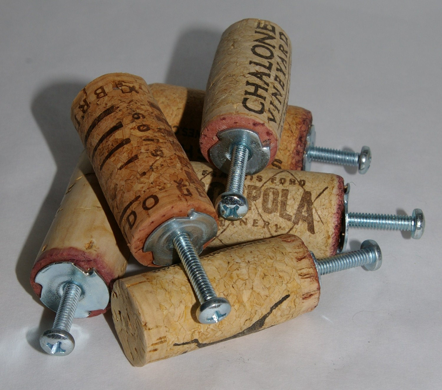Kitchen Cabinet Handles Cork: Repurposed Wine Cork Drawer Pulls Set Of Six