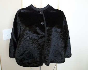 Vintage black velveteen cape from Specialty House, 1950's