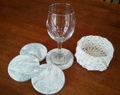 Ceramic Coasters and Basket Holder