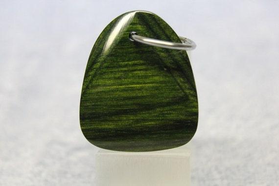 Jade Green Pakkawood Key Chain Fob (L76)