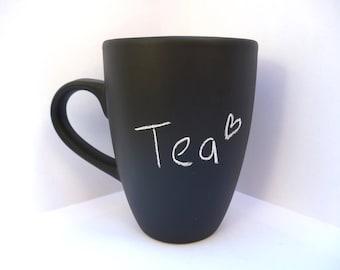Chalkboard mug -  custom mug - cute gift - home ware - coffee tea hot drinks