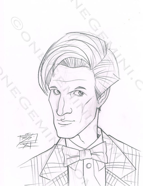 DOCTOR WHO - Eleventh Doctor Sketches - by official an Doctor Who artist