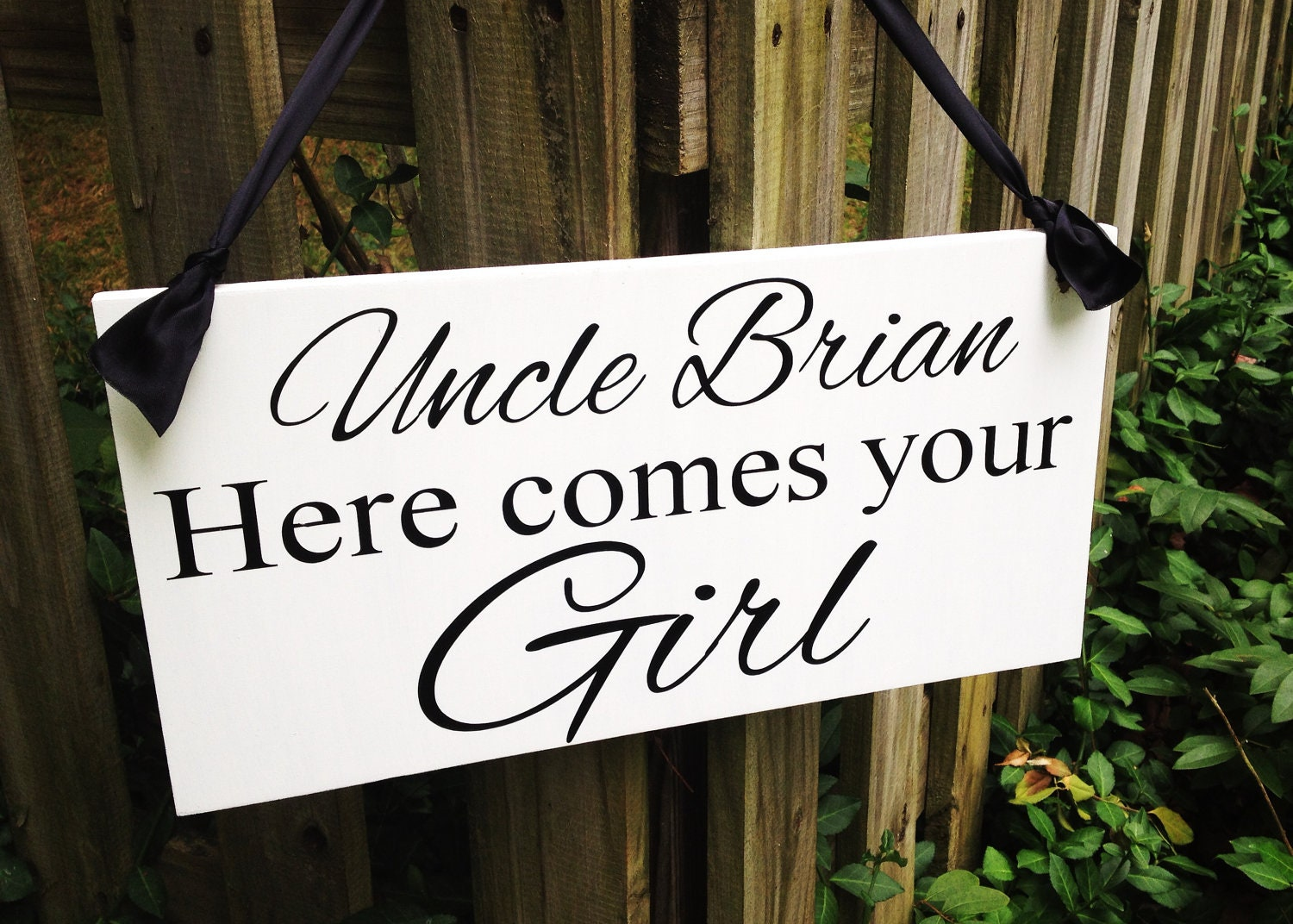 weddings signs uncle here comes your girl flower girl ring. Black Bedroom Furniture Sets. Home Design Ideas