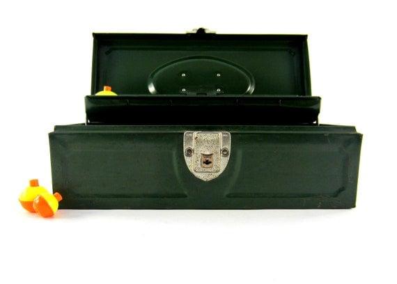 Vintage Green Tackle Box