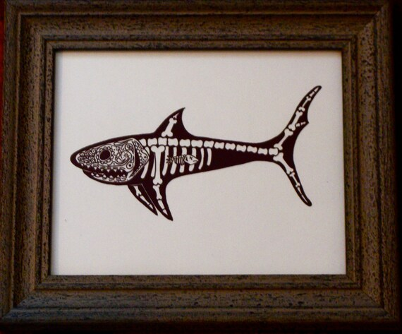 Dead Shark Drawing Day of The Dead Shark Dia de