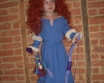 Handsewn Merida Dress for Kids 2t to 12 Custom order to fit
