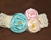 Three Rose Colorful Headband