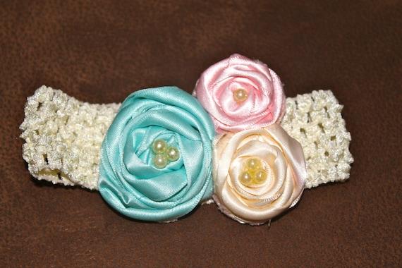 Three Rose Colorful Headband