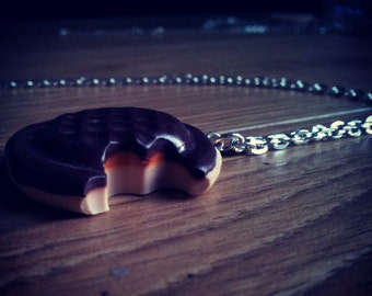 Jaffa cake necklace
