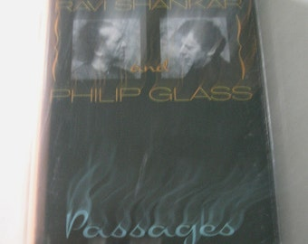 Ravi Shankar and Philip Glass, Passages, 1990 Private Music Cassette Tape plus