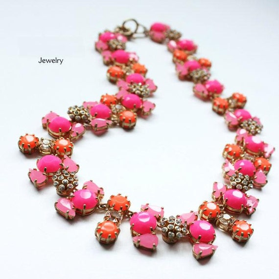 2012 Lates  Cabochon fan Flora Crystals Candy Beautiful Party or Casual  Neckalce jewelry - christmas Gift - Great quanlity