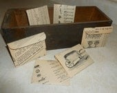Set of 6 Handmade Envelopes from Vintage Gardener Catalog - Great for Seed Packets