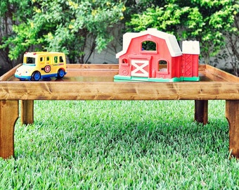Real Wood Childrens Activity / Train / Lego Table-