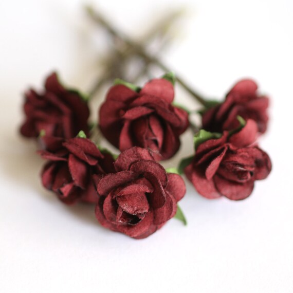 Items Similar To Burgundy Rose Bridal Hair Accessories Bohemian Wedding Hair Accessory