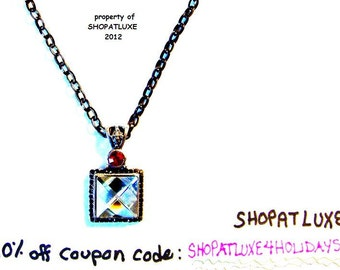 Acrylic Crystal Necklace - Artisan Handmade
