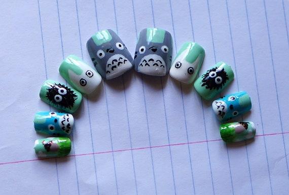 Totoro Nail Set
