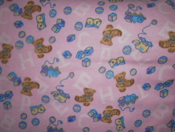 Baby print flannel fabric sold by the yard for Children s flannel fabric by the yard