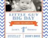 Chevron Birthday Invitation - Printable