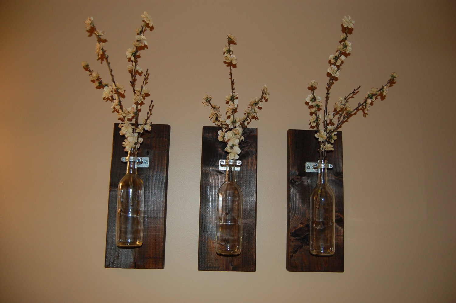 Wine bottle wall art wall vase handmade home accessories for Art wall decoration