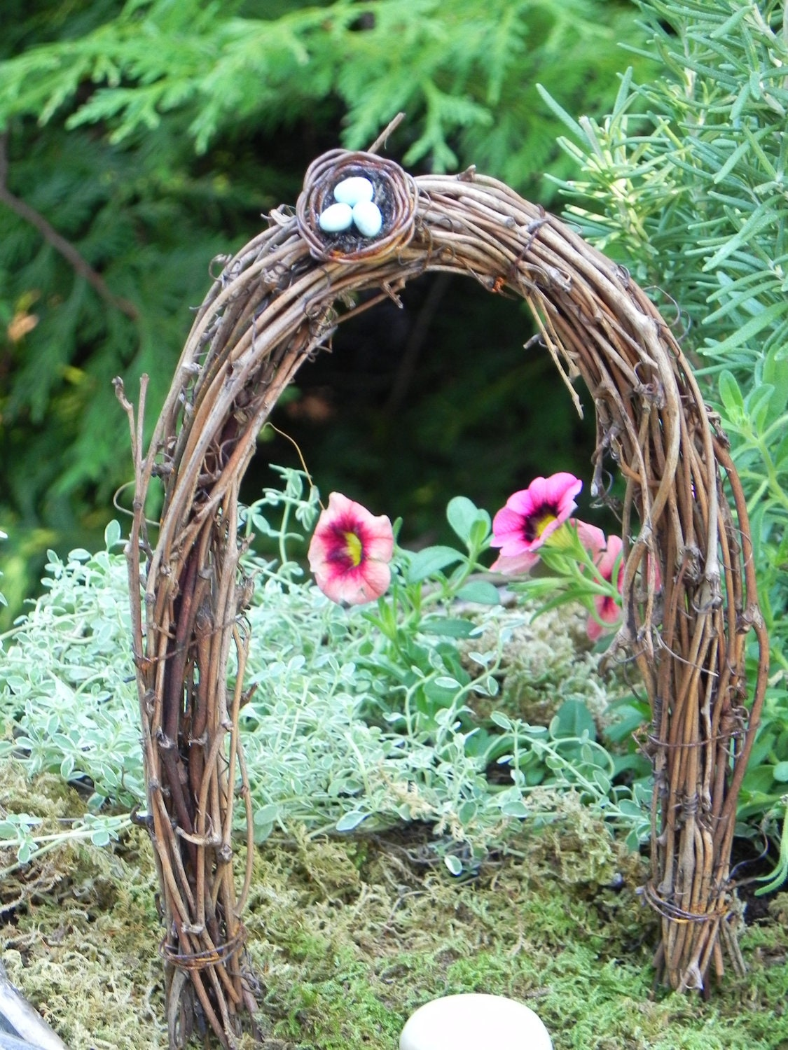 Miniature Fairy Garden Arbor With Bird S Nest