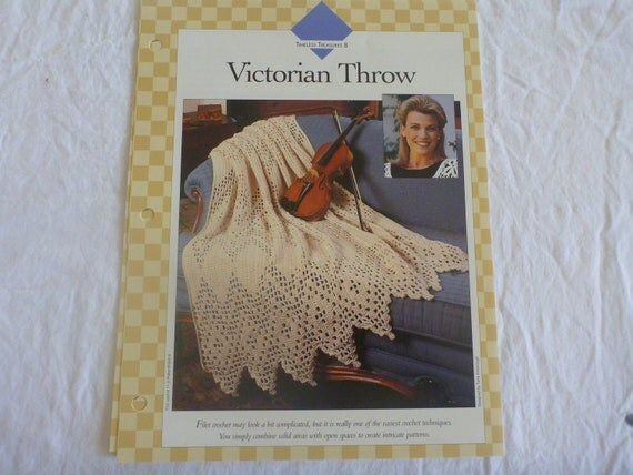 5  PATTERNS-Vanna's Afghan and Crochet Favorites- Timeless Treasures : B145