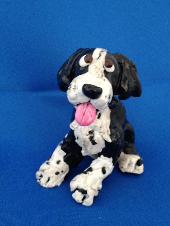 Black & White Cocker Spaniel dog figurine by HoundsofHope ...